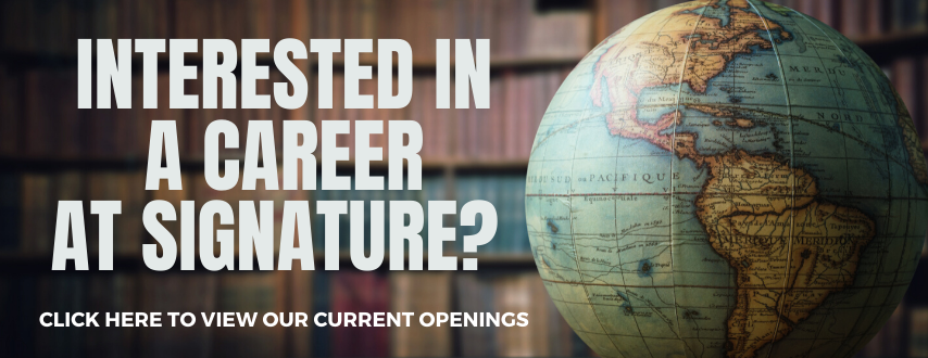 Click here for more information about current career opportunities at Signature School.